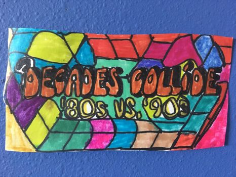 80s Vs 90s Decades Collide Art Colorful DesignDraw by NWeezyBlueStars23