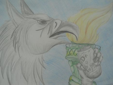How Gryphons do Dr. Pepper by myhime220
