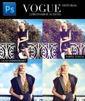 VOGUE Editorial - Photoshop Action by FashionVictim89