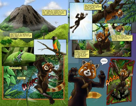 Pemba's Discovery Pg. 1 and 2 color by Vala316