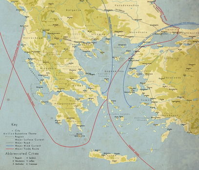 Map of Early Medieval Aegean Trade by Daeres