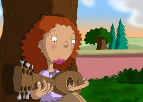 Ginger play guitar by MADt2