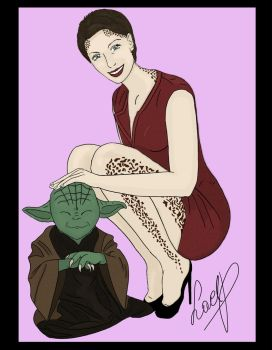 Trill and master Yoda by LaelP