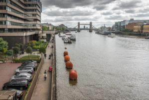 great London - clouds over the Tower bridge by Rikitza
