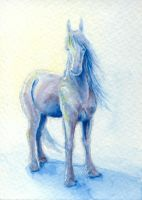 Oberon Watercolor and Gouache ACEO Mini-Painting by Dreamspirit