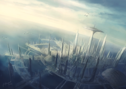 The City of Atlantis - Capital of the League by Lionel23