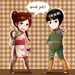 Tenten and Rock Lee Chibi by annJu-chan