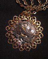 Watch Movement pendant by Space-Invader