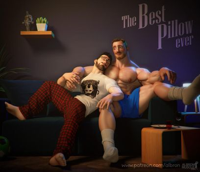 Song and joe: The best pillow ever by albron111