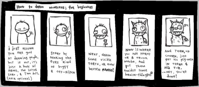 How to draw beginner monsters by bentoons