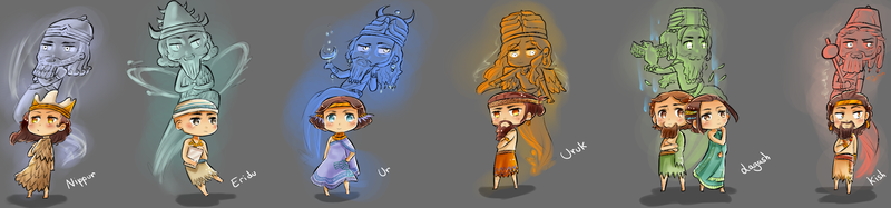 APH Mesopotamia Ancients + Gods by galaatear