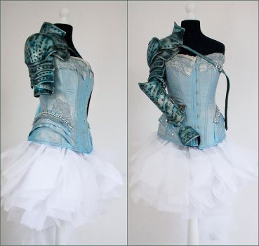 Light Blue Silver Armor by Pinkabsinthe