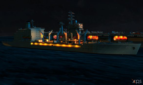 USNS Patuxent for XPS (posable) Night by Haganeya