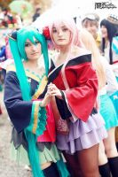 Vocaloid - Luka Flower and Miku Butterfly by hanaquarius