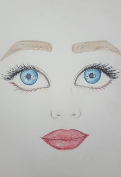 Womans Face by Sugarpinklickalips