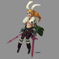 Adventure Knights - Human Knight Fionna by Chilimanic