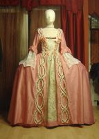 Robe a la francaise in pink 1 by azdaja