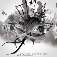 22 Dynamic Grunge Brushes by Fortelegy