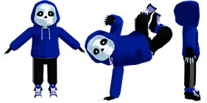 MMD Dancetale Sans (DL) by KittyNekkyo