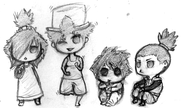 Chibi Sketches by Loveleaf1