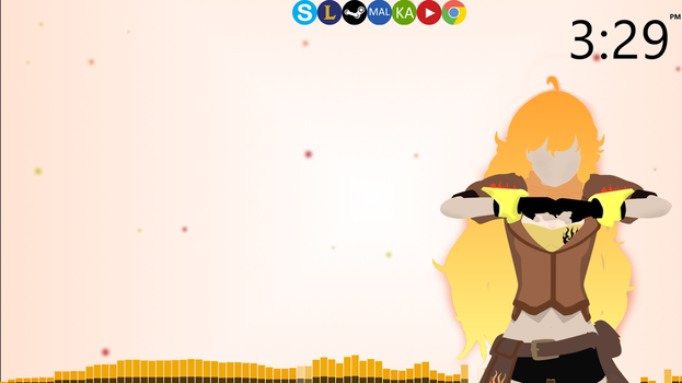 Final Rainmeter RWBY Yang Xiao Long theme v2 by saitoukazuma