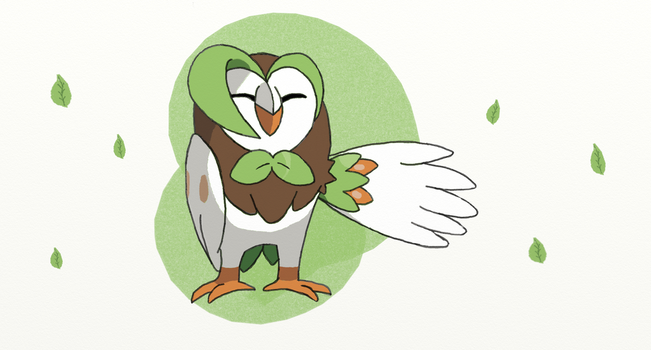 Alola Pokedex #2 Dartrix by sketchbase