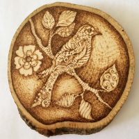 Bird. Wood-burning by DWG-NSY