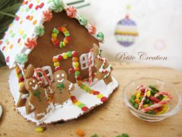 gingerbread house miniature 0 by PetiteCreation