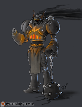 July 2017 - Weekly Sketch 2 - Black Knight by Duaxer