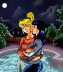 Betty And Veronica Snuggling By The Pool by mandygirl78