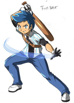 First Base's Special Costume - Slugger by RJ-Streak