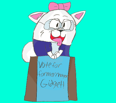 Vote for Former Mayor Gidget! by Angelicbunni3