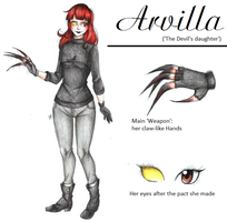 :Horror OC: Arvilla (aka. the devil's daughter) by MikuPapercraft
