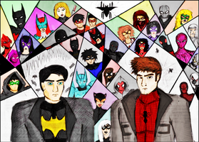 Batman and Spider-man. Wings of Web by Vexacuz