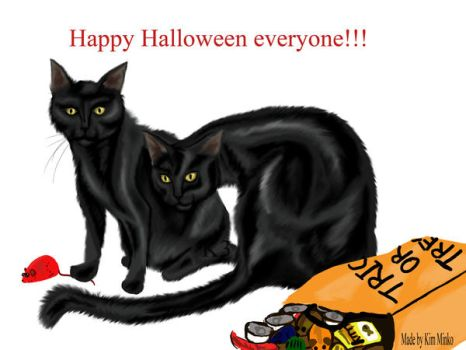A kitty Halloween by Kimantha333