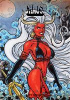 Lady Demon Sketch Card by tonyperna