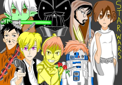 Ouran Star Wars Host Club by OneDirectionFanJohn