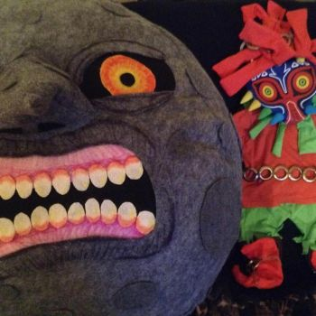 Giant Majoras Mask Moon Plush and Baby Skull Kid C by Linksliltri4ce