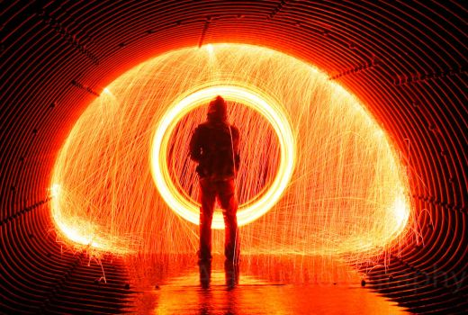 Eye of the fire by AlanCPhotography