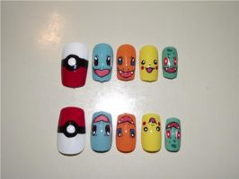 Pokemon Nails by Momousui