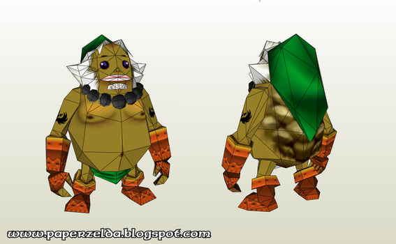 Goron link Papercraft by Paperlegend