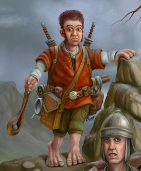 Halfling close-up by JohnMalcolm1970