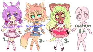 CHEAPER Pets Adoptables OPEN(2 left!) by TheScarletDevil