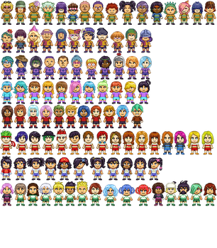 All Sprites (UPDATED) by Card-Queen