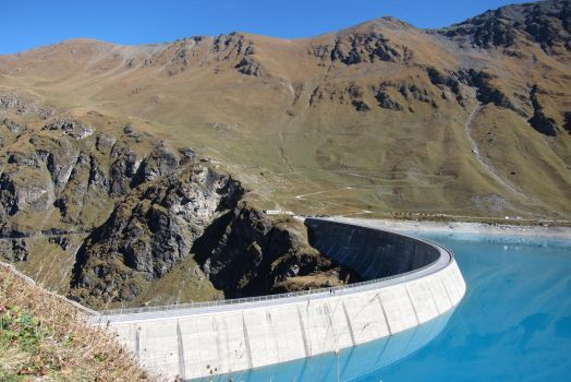 Moiry Dam other side view by elodie50a