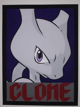 Mewtwo Lookin' at You by IceRoadLion