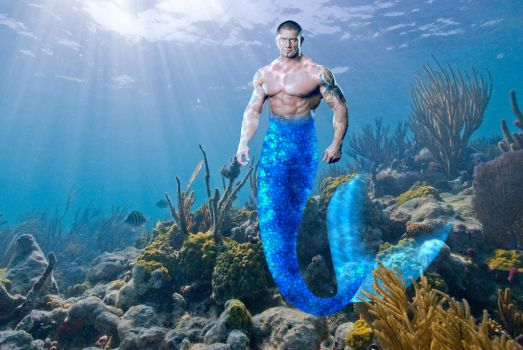 Dave Batista Merman by hottestillusion