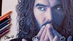 Russell Brand Drawing by Live4ArtInLA