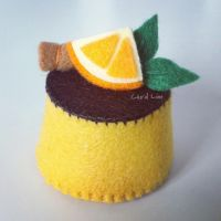 Caramel Felt Pudding by CraftersBoutique