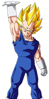 Colored 066 - Vegeta 017 by VICDBZ